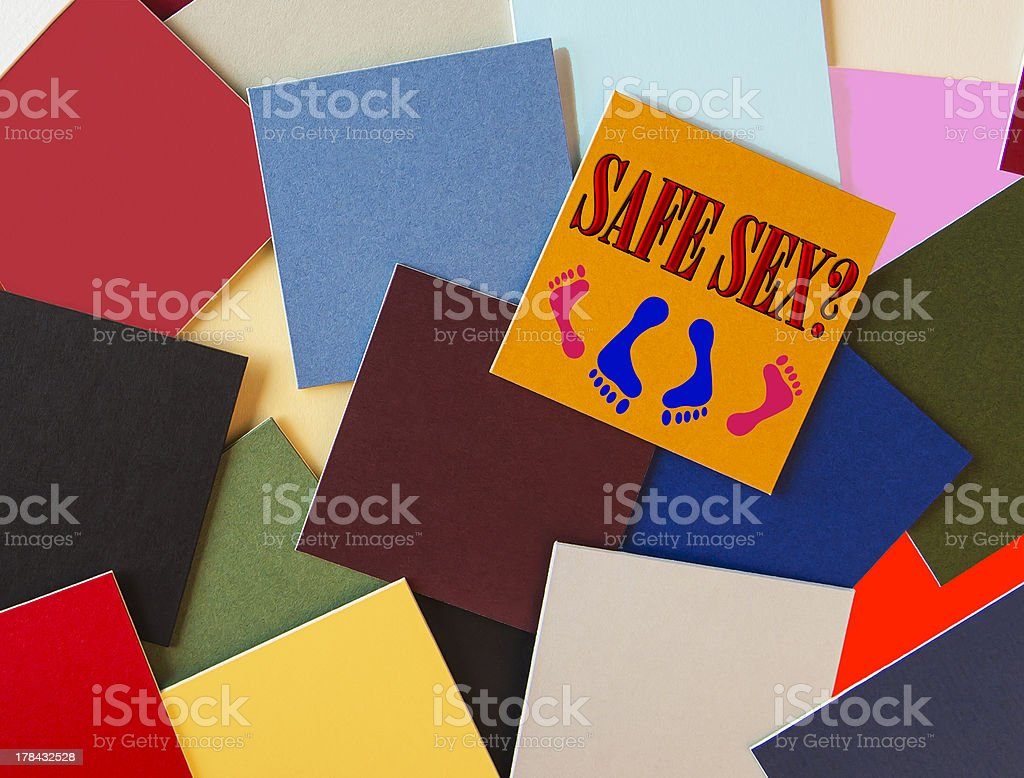 Sign for Safe Sex royalty-free stock photo