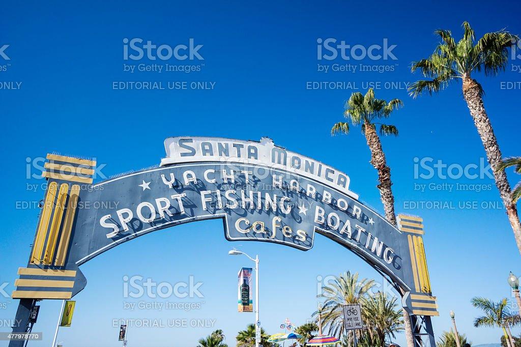 Sign For Santa Monica, California stock photo