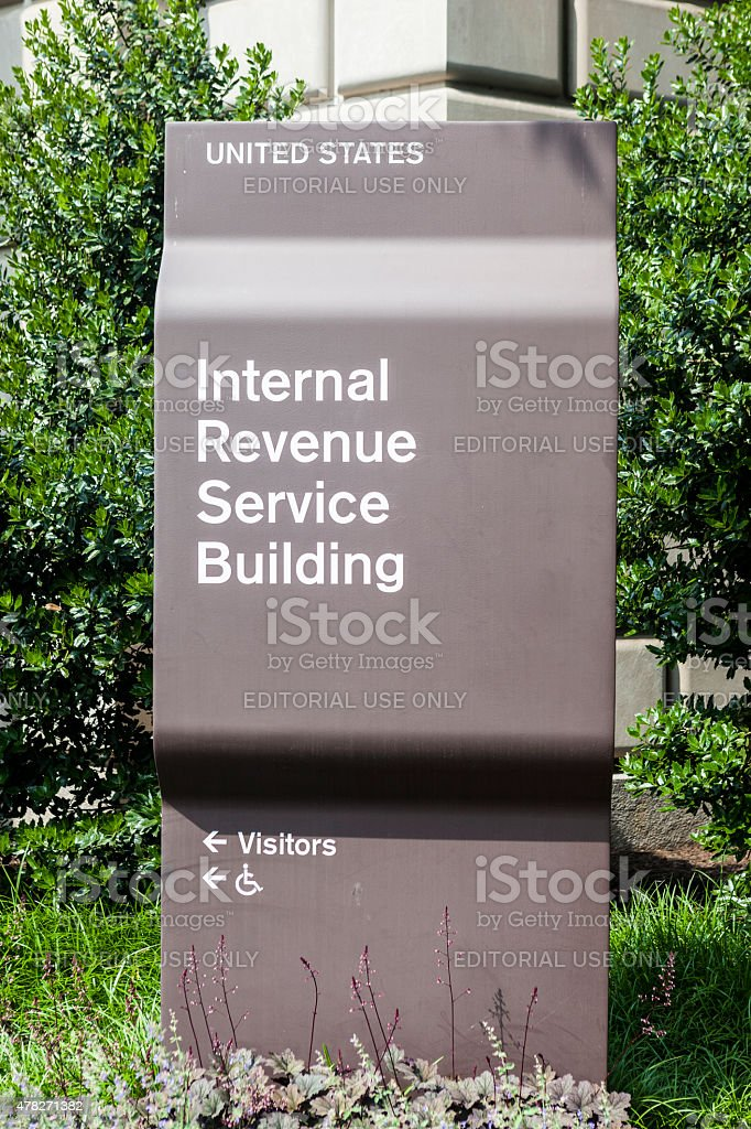 Sign For The Internal Revenue Service In Washington DC, USA stock photo