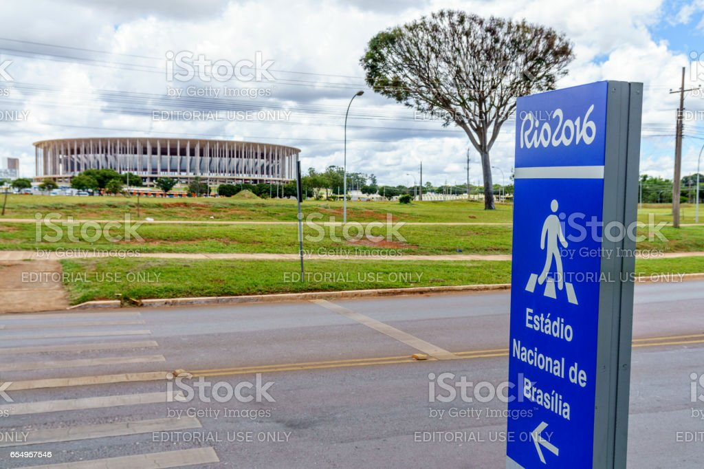 Sign for the Rio 2016 Olympics venue stock photo