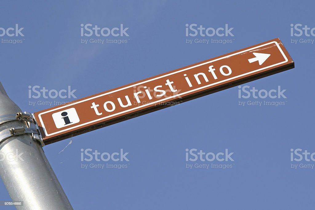Sign for tourist information royalty-free stock photo