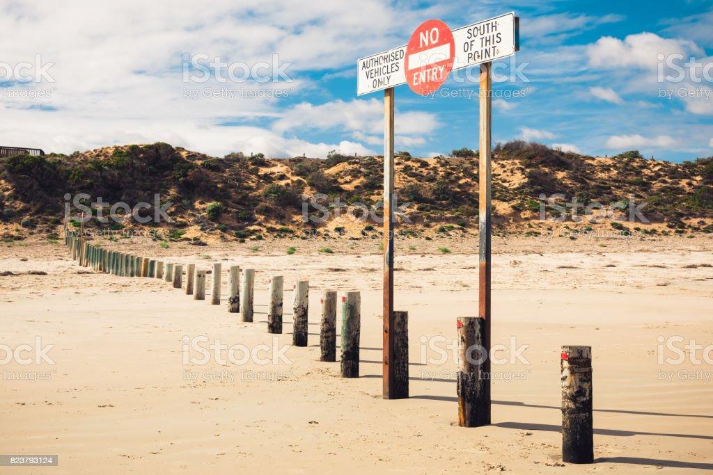 Blechschild Fotografie Foto Bilder Strand Sand Schrift Australien Sonne