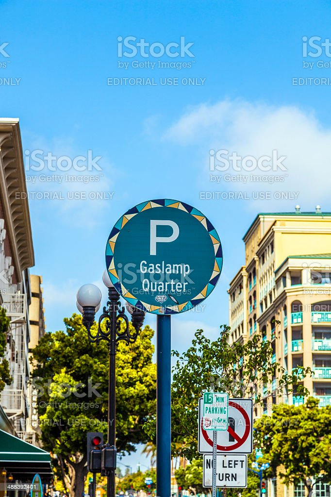 sign Gaslamp Quarter in San Diego stock photo