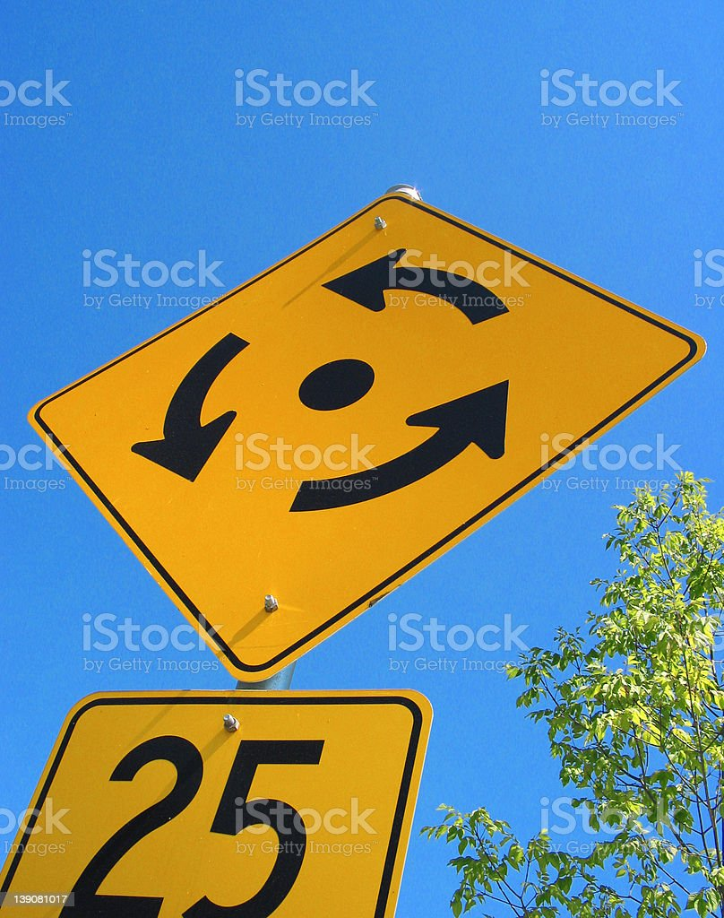 A sign - Getting the Runaround! stock photo