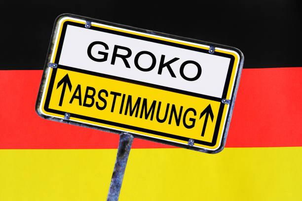 melden sie an-regierung deutschlands hat für die große koalition gewählt. - la union stock-fotos und bilder