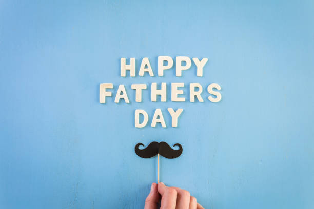 sign happy father's day - fathers day stock photos and pictures