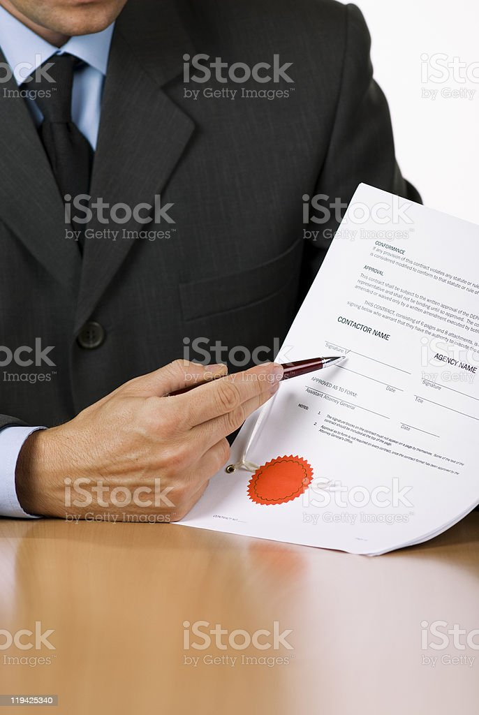 Sign here stock photo