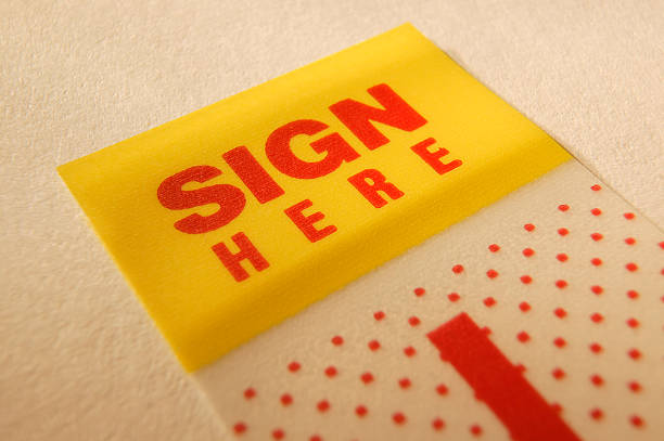 sign here - dotted line stock photos and pictures
