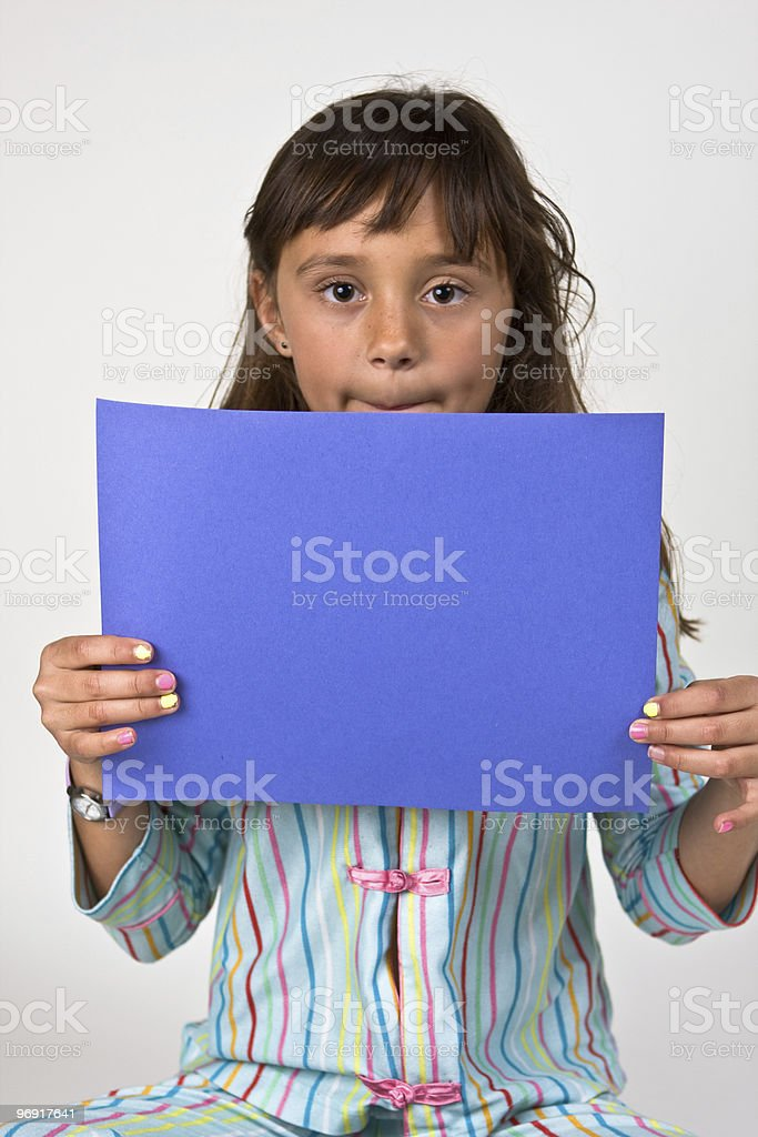 Sign Holder royalty-free stock photo