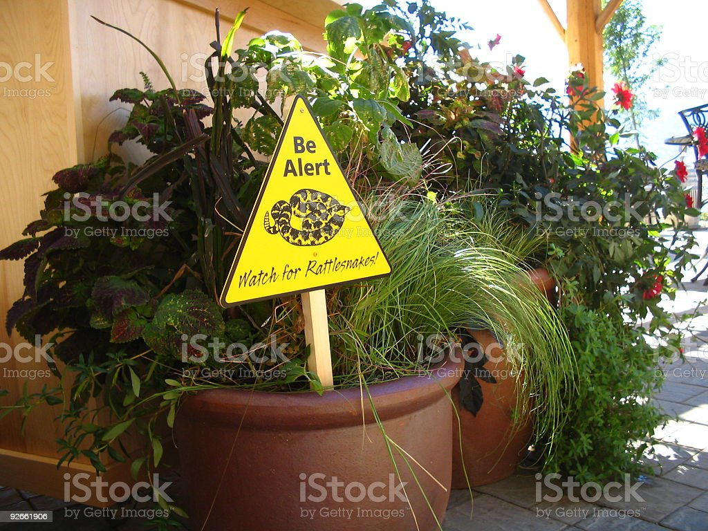 Sign in a pot royalty-free stock photo