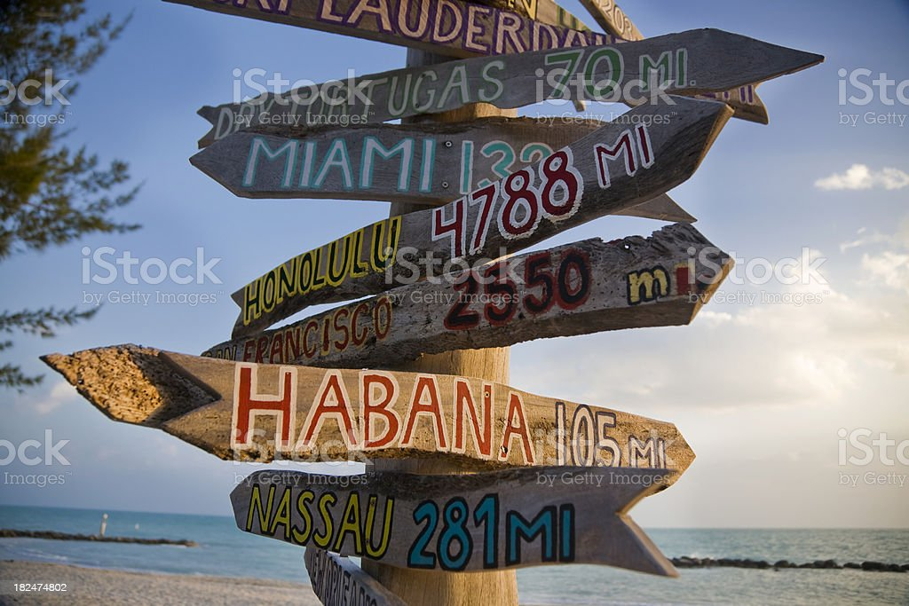 sign in Key West stock photo