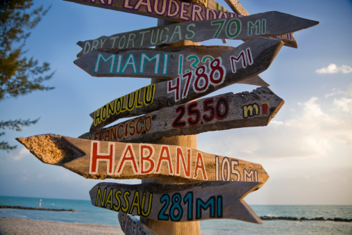 Sign In Key West Stock Photo - Download Image Now