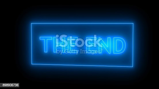istock THE END Sign in Neon Style 898906736