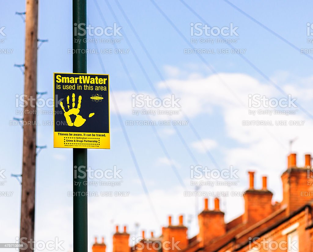 SMARTWATER sign in Nottingham stock photo