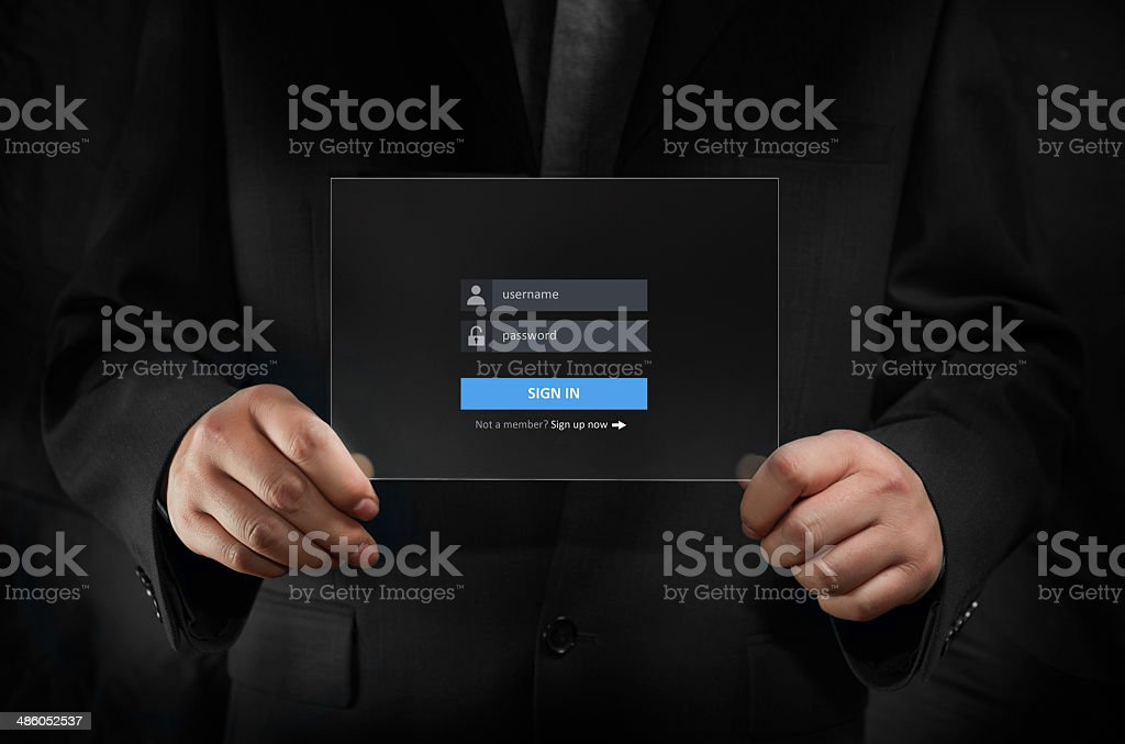Sign In stock photo