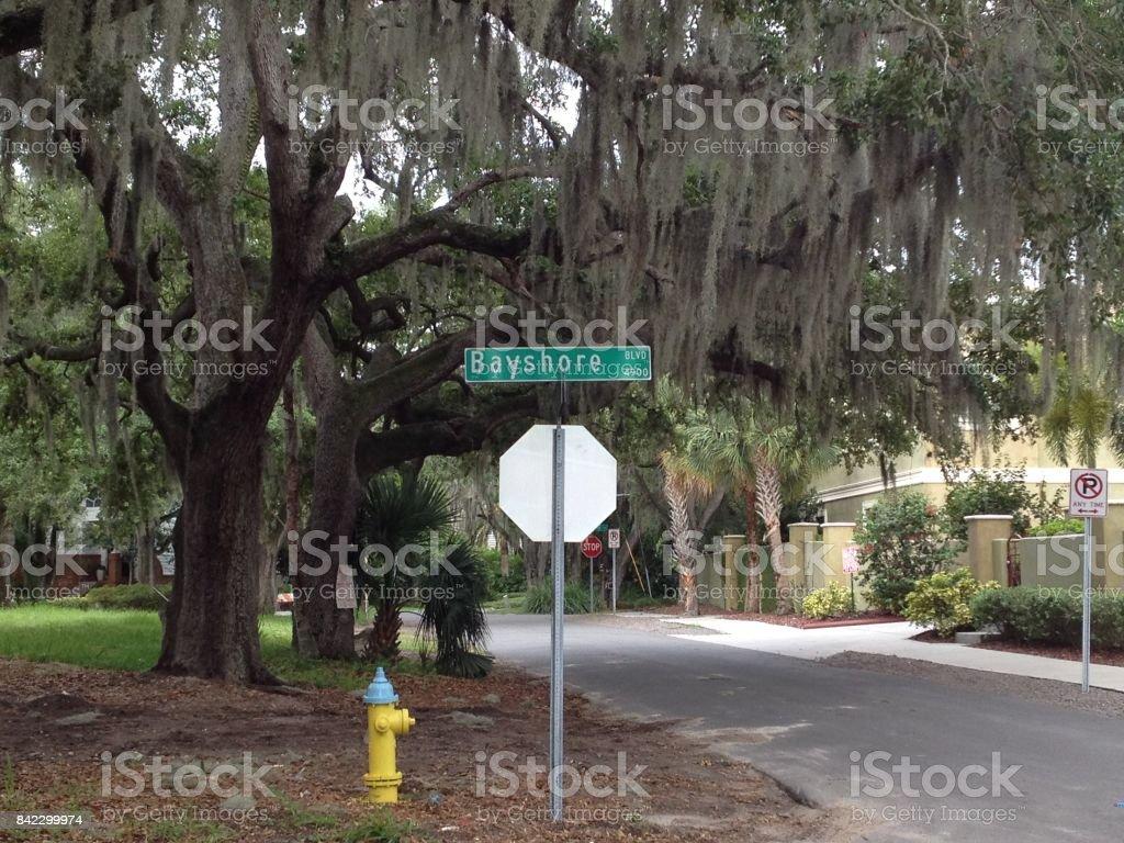 letrero en Tampa, Estados Unidos stock photo