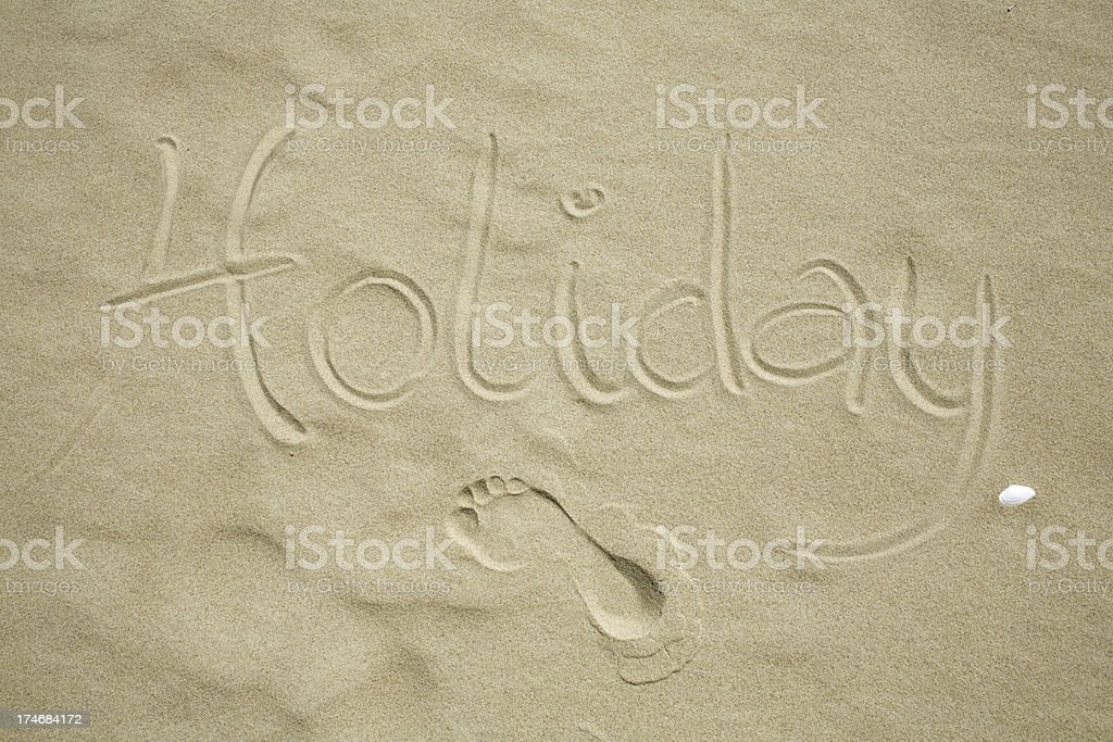 Sign in the sand royalty-free stock photo