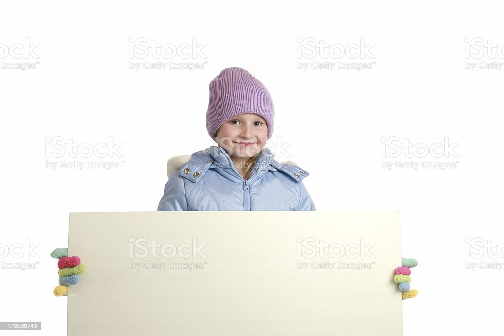 sign in winter royalty-free stock photo
