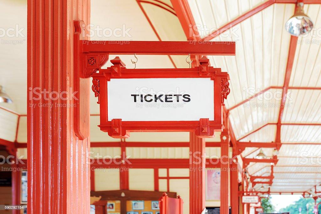 Sign indicating where you can buy tickets Стоковые фото Стоковая фотография