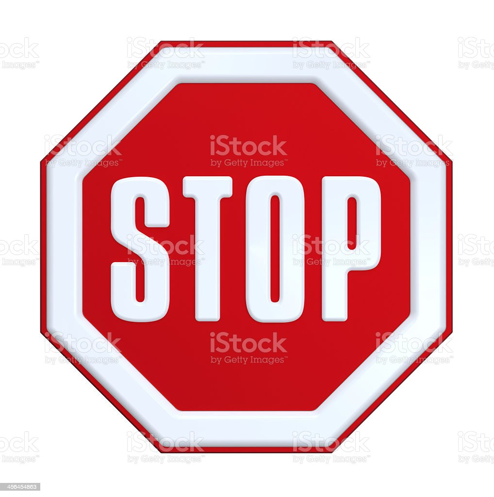 STOP sign isolated on white. stock photo