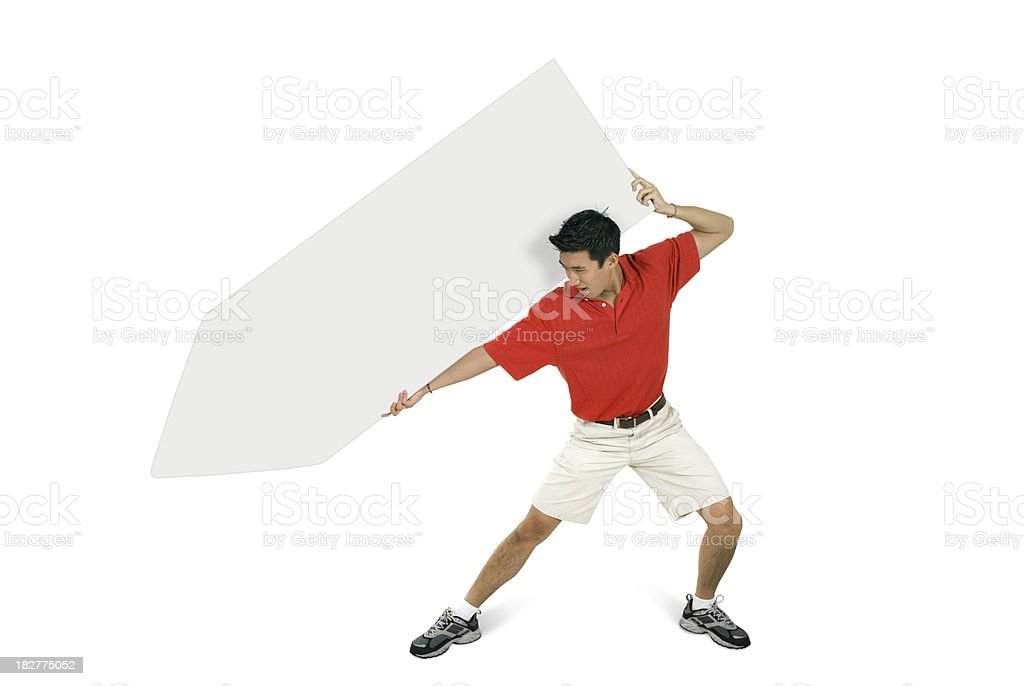 Sign Juggling Performer - Atlas Pose royalty-free stock photo