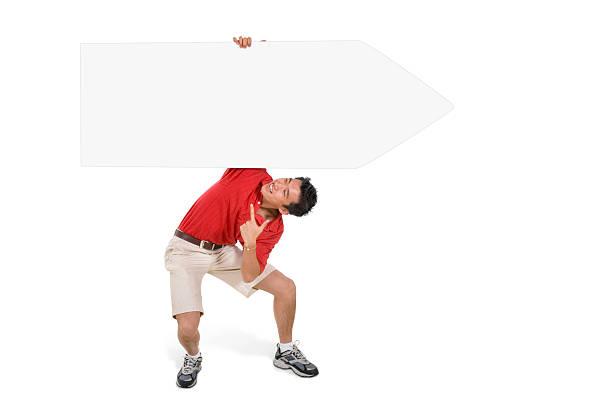 Sign Juggling Performer - Held Over Head stok fotoğrafı