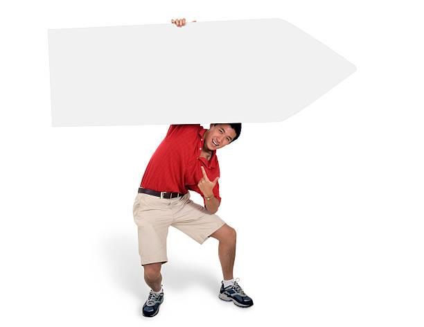 Sign Juggling Performer - Looking Under stok fotoğrafı