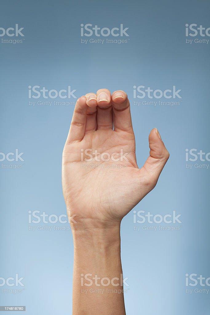 Sign Language - C royalty-free stock photo