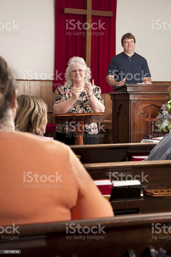 Sign Language Interpreter stock photo