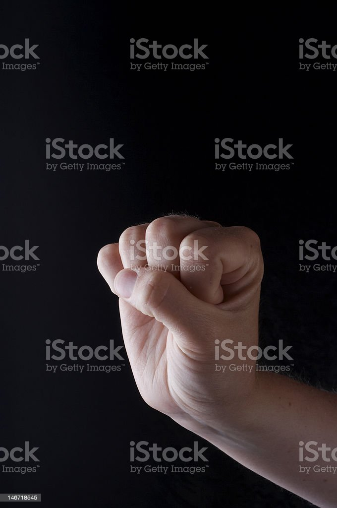 Sign Language letter S royalty-free stock photo