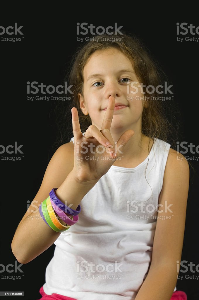 Sign Language Love royalty-free stock photo