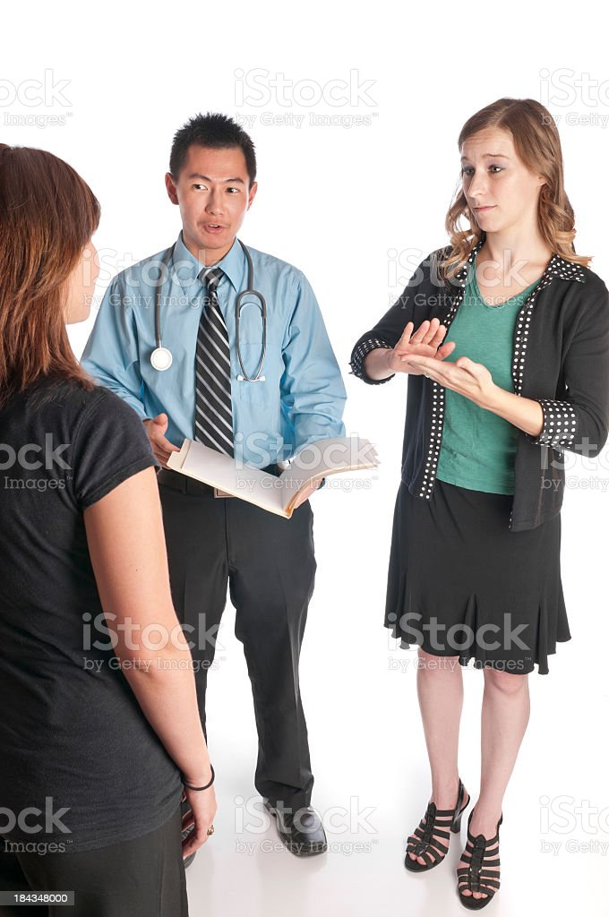 Sign Language Medical Interpreting stock photo