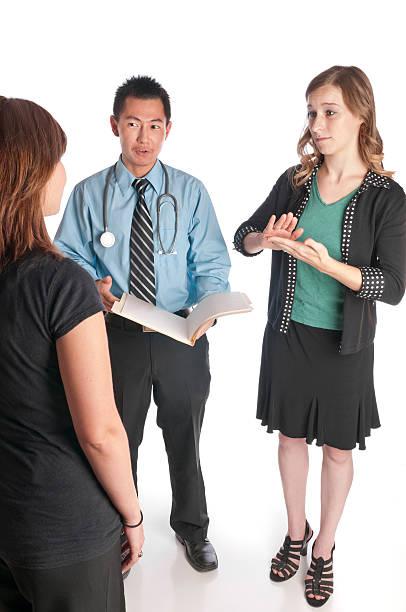 Sign Language Medical Interpreting stock photo