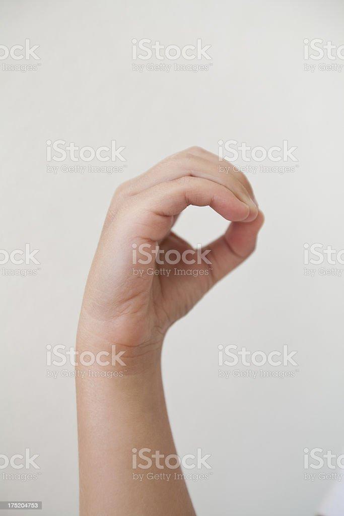 Sign language O stock photo