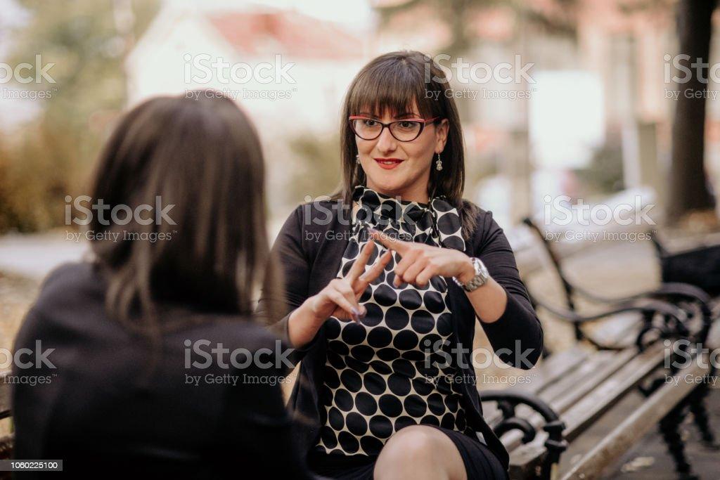 Sign Language royalty-free stock photo