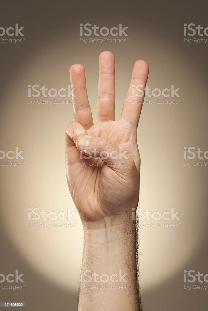 Sign Language - W royalty-free stock photo