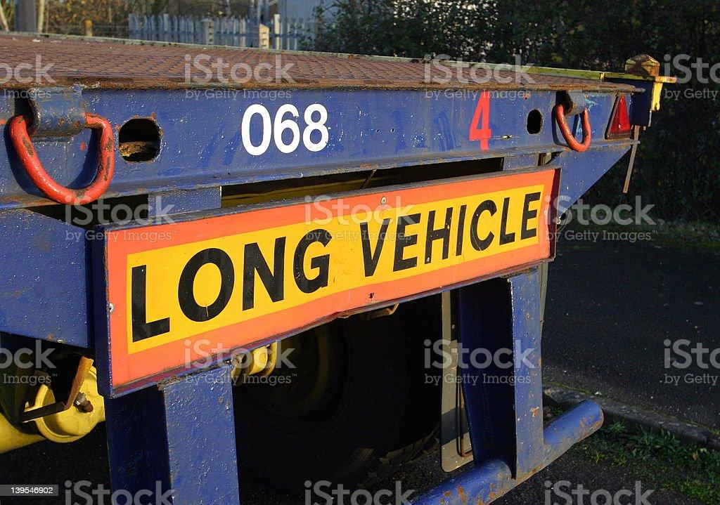 Sign, Long Vehicle royalty-free stock photo