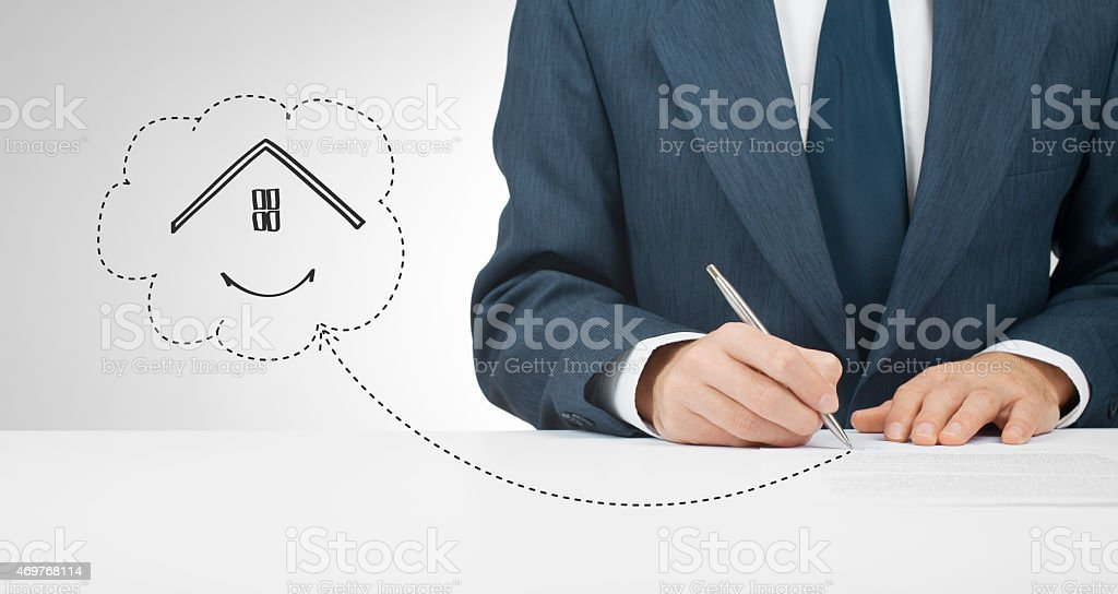 Sign mortgage stock photo