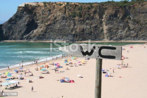 istock WC sign near beach 91427696