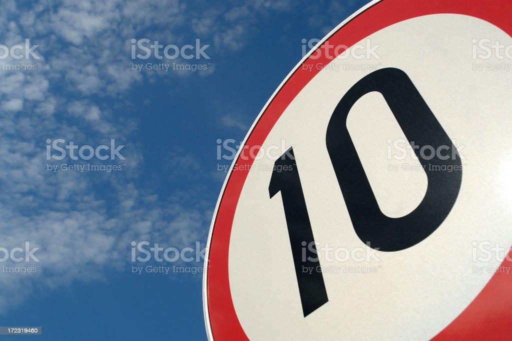 Sign No 10 royalty-free stock photo