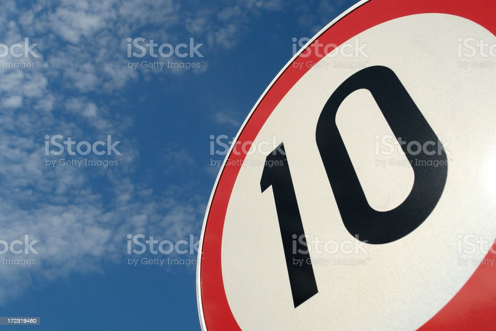 Sign No 10 stock photo