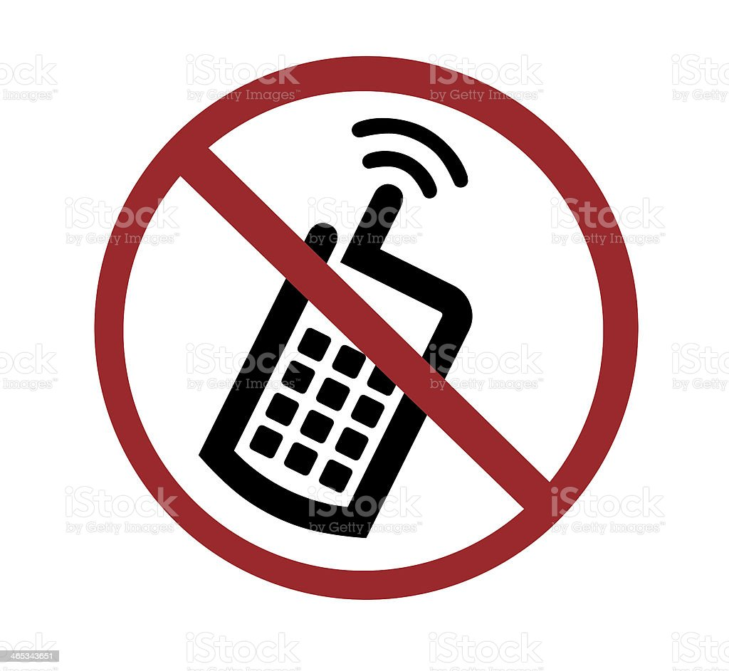 sign - no cell phones stock photo