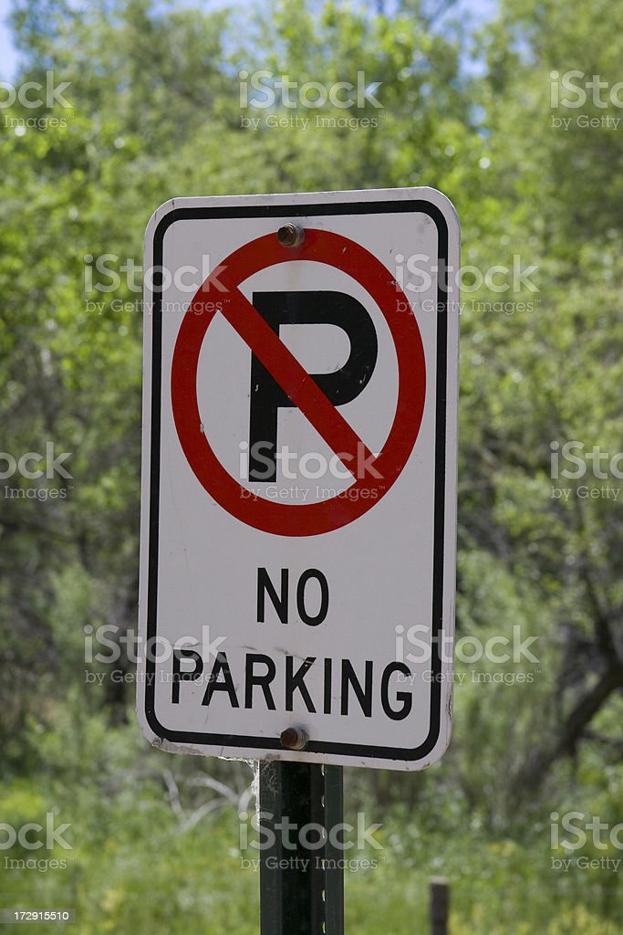 Sign - No Parking royalty-free stock photo
