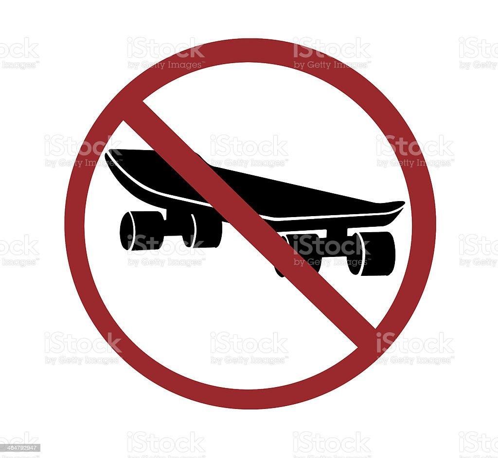 sign - no skateboarding stock photo