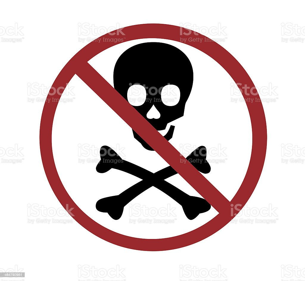 Sign No Skull And Bones Stock Photo More Pictures Of Authority