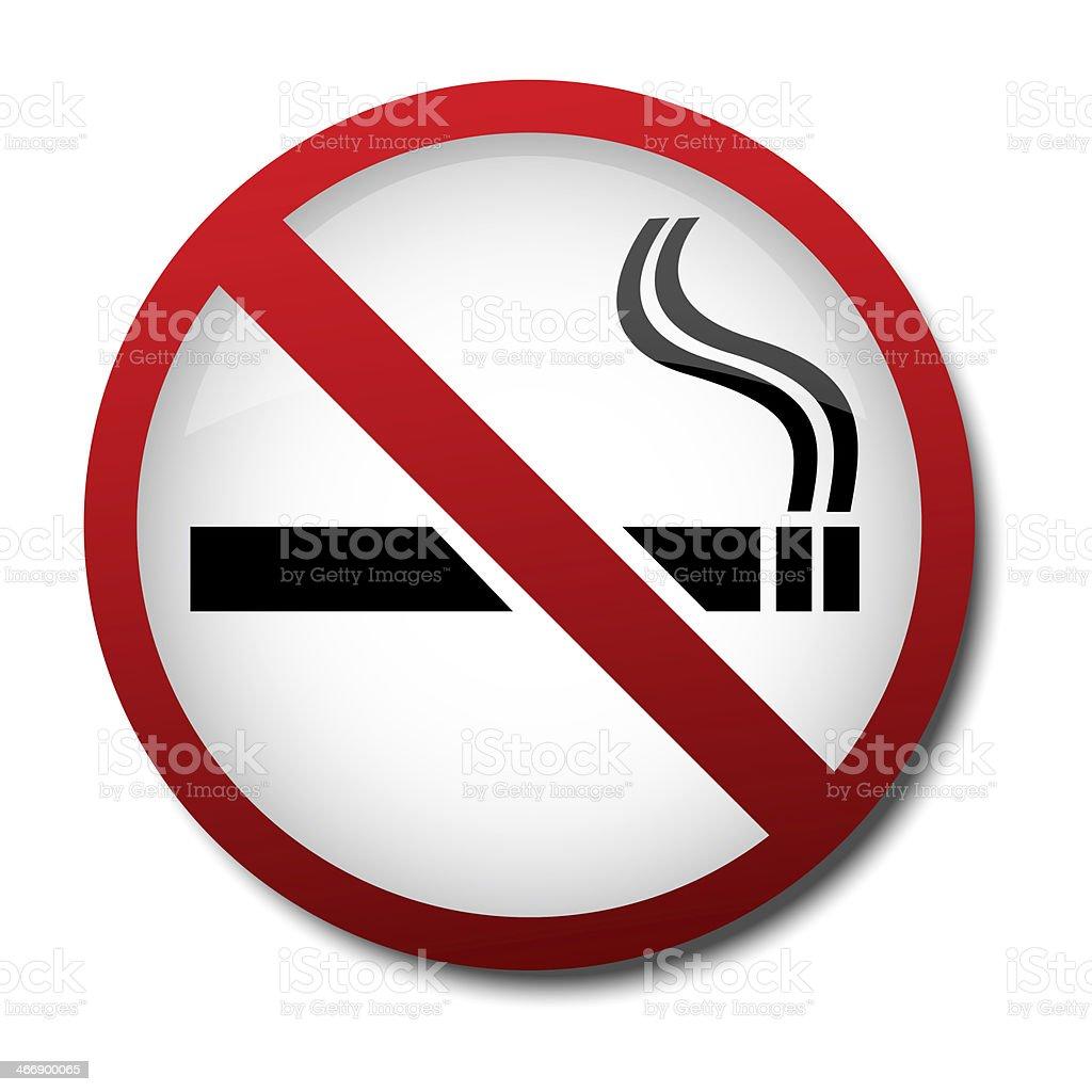 sign no smoking 2d stock photo
