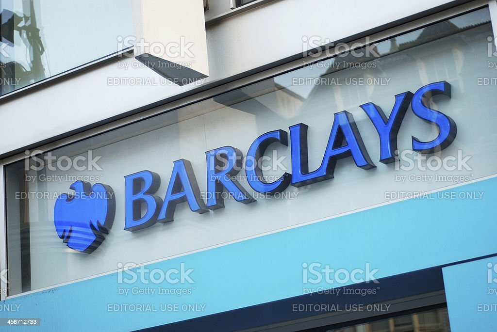 Sign of Barclays Bank in Liverpool stock photo