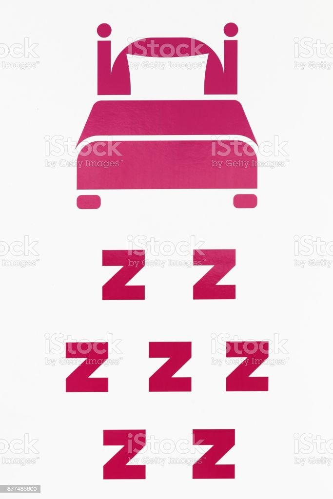 Sign of bedroom illustration stock photo