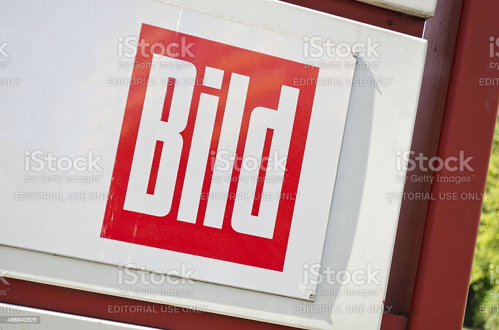 sign of Bild - a german newspaper royalty-free stock photo