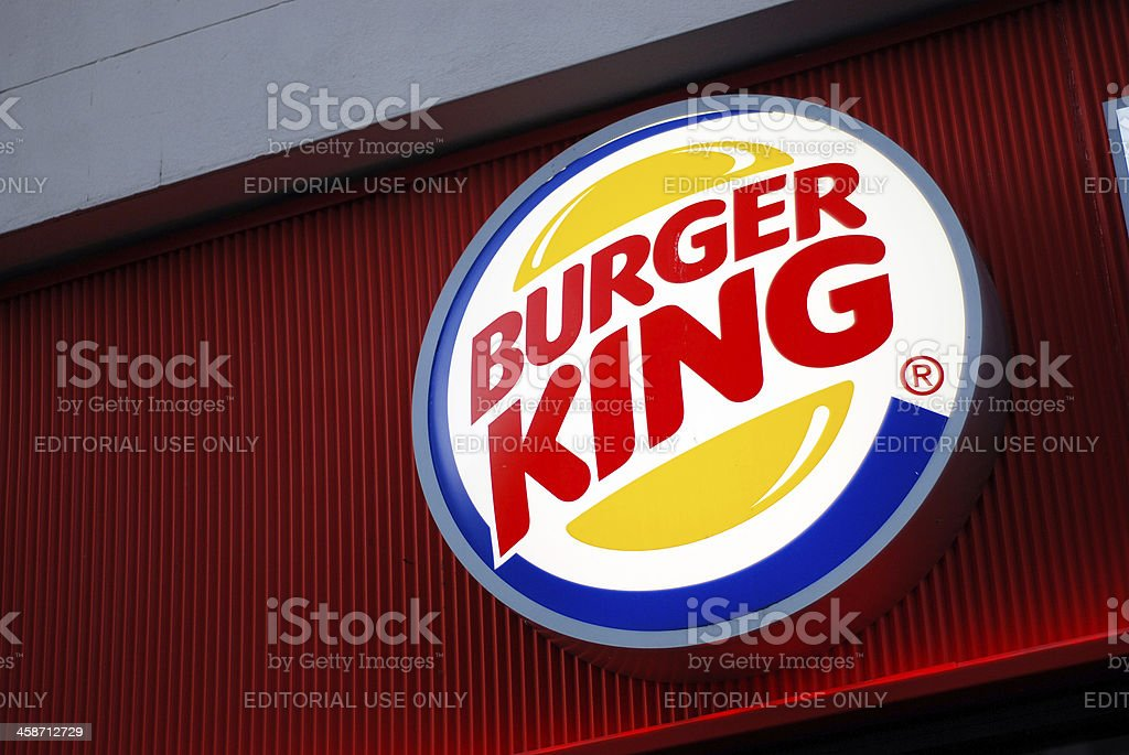 Sign of Burger King in Liverpool stock photo